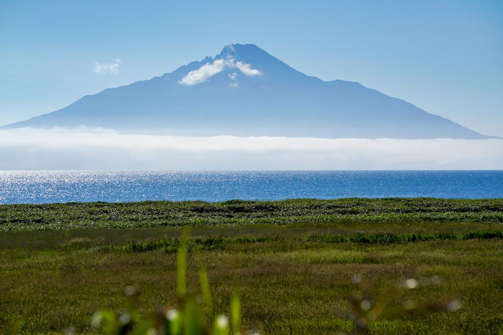 オロロンラインから見る利尻島