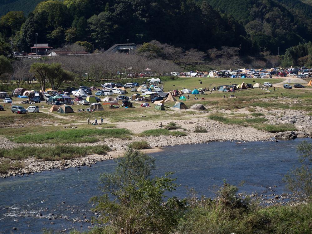 笠置キャンプ場混雑