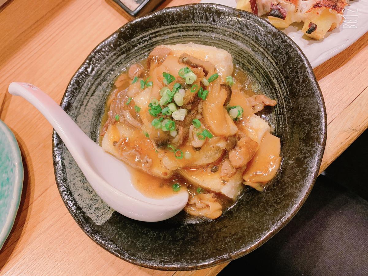 揚げ出汁肉豆腐