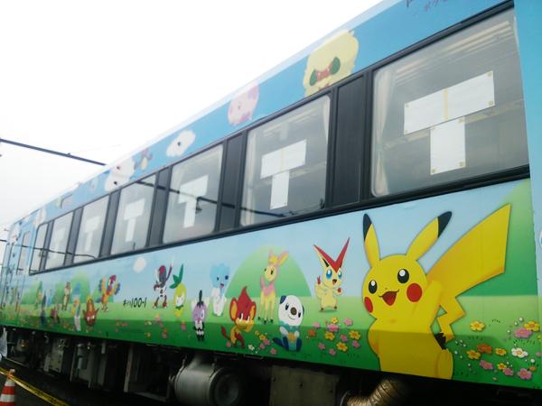 ピカチュウ・ポケモンの電車