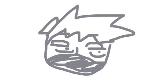 カカシ先生の似顔絵・マスク