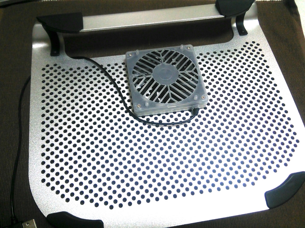 PC冷却台使用図2