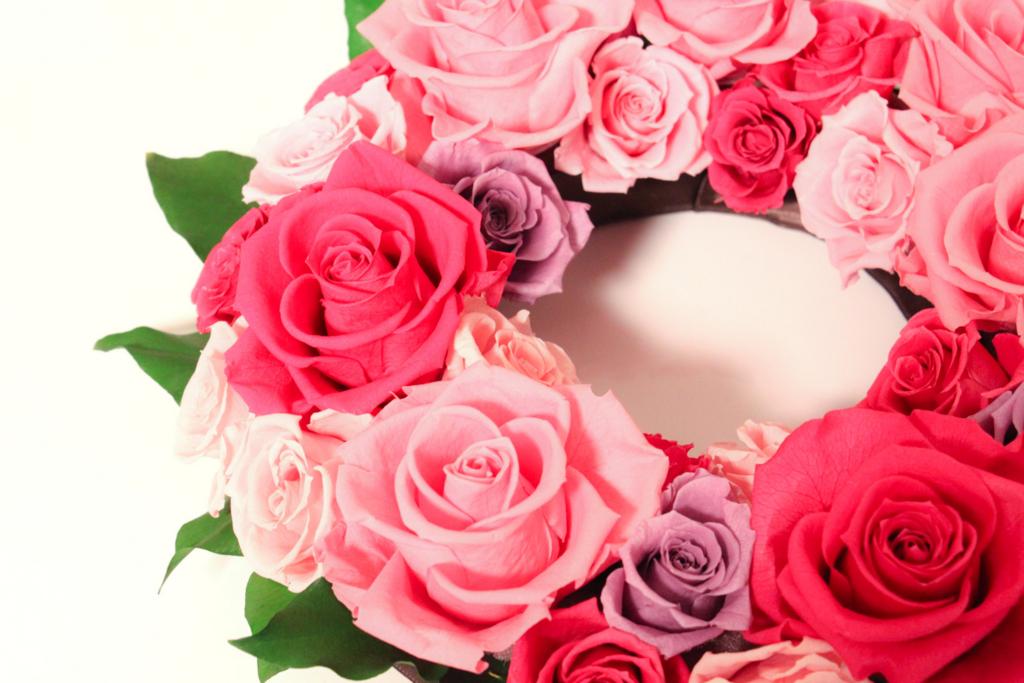 花の輪っかピンク赤