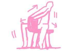 椅子を使ったストレッチ
