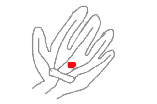 外労宮・腹痛を抑える手のツボ