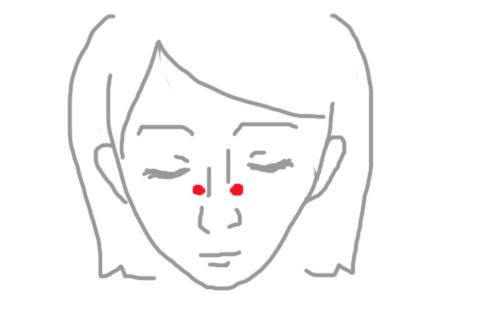 上迎香・鼻水をとめるツボ