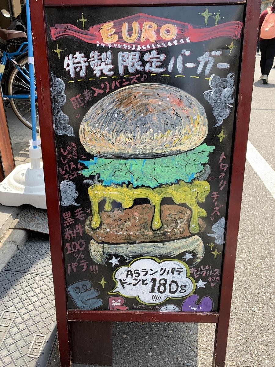 EURO ハンバーガー 看板