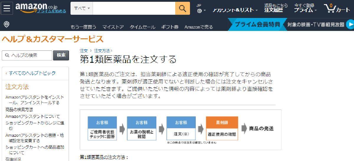 第一類医薬品 Amazon(アマゾン)