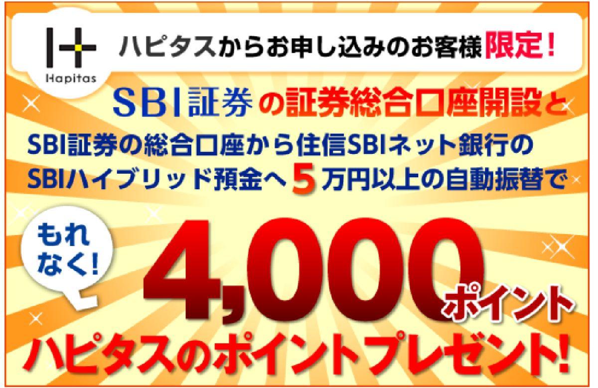 SBI証券はポイントサイト「ハピタス」経由の口座開設がおすすめ!