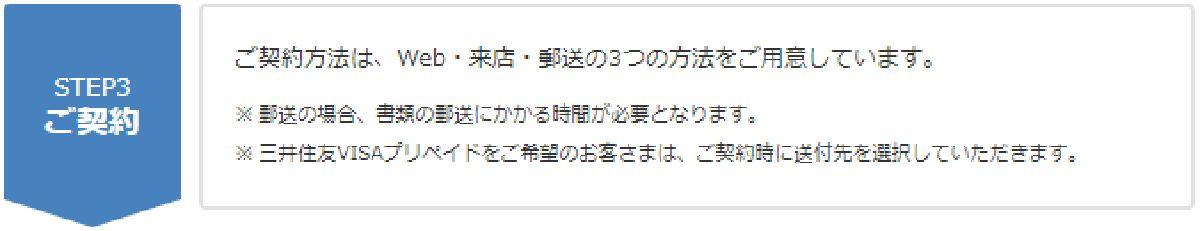 プロミスでのご契約手続き(ステップ3)