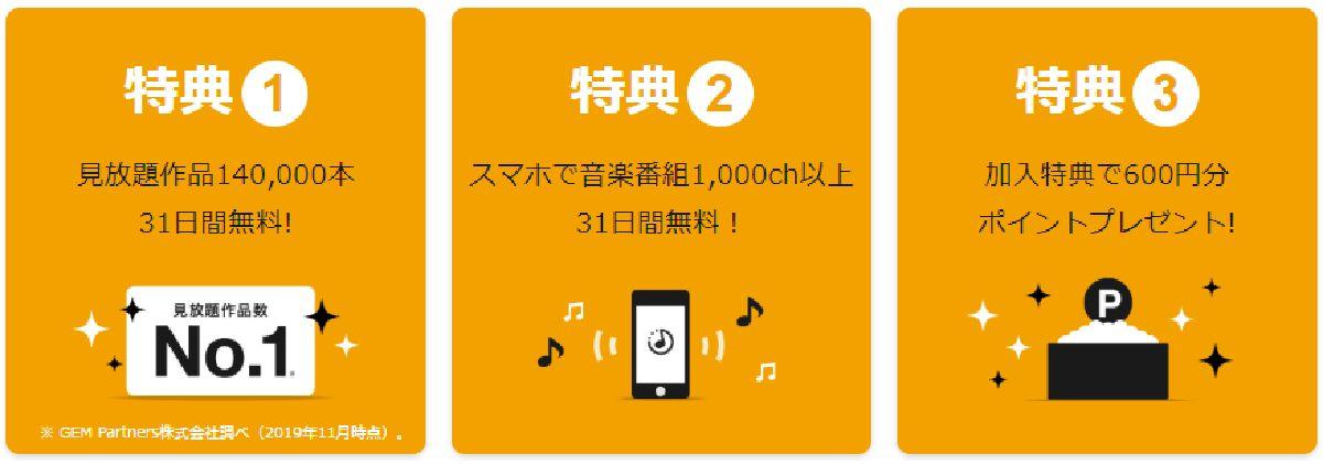 U-NEXTは新規登録から31日間無料視聴が可能!