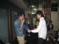 2010年追いコン 2次会@Bar Toraja 13 花束贈呈