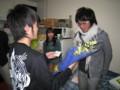 2010年追いコン@タピオ宅 花束贈呈 2