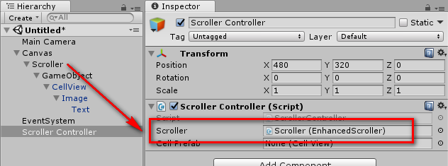 Enhanced Scroller Unity