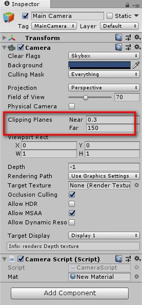 Unity】Z バッファ値に依存するグレースケールシェーダを導入する