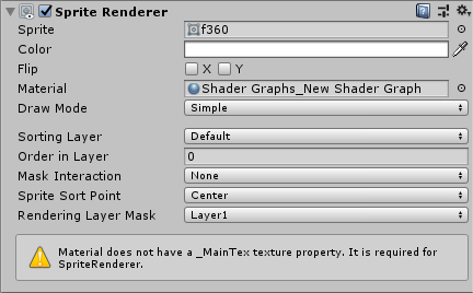 Unity Shader Graph 2d Sprite