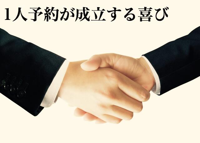 【ゴルフ1人予約が成立する喜び】