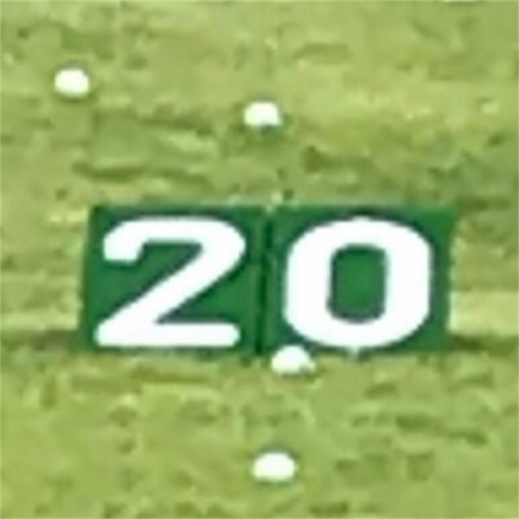 20ヤード。