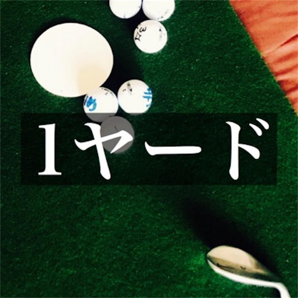【1ヤードのゴルフ練習場】