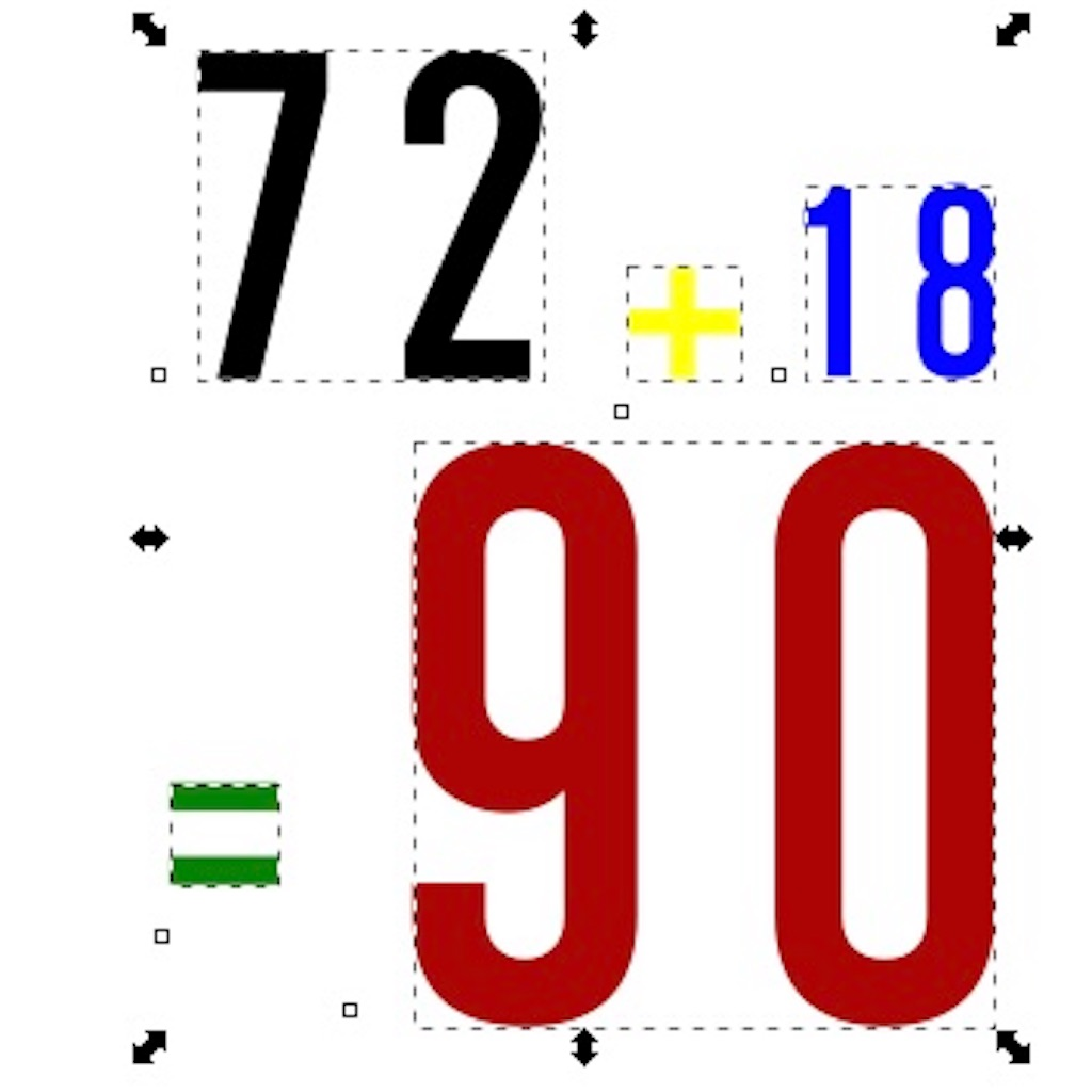 【72 + 72 = 90】