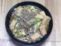高野豆腐と白菜の台湾ラーメンなう。by すがきや