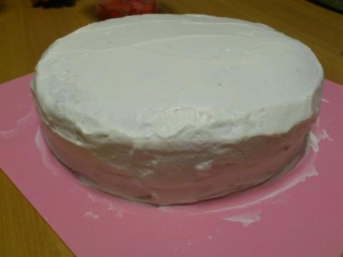 ケーキ作成中♪