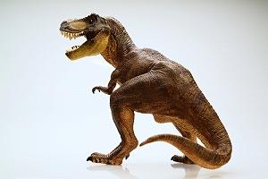 恐竜とパチリ!