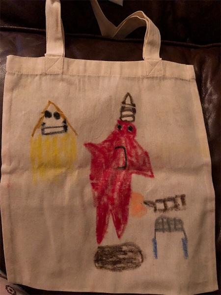 スザンヌさんの息子さんのバッグ!