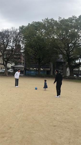 Jリーガ二人とサッカーなんて!!