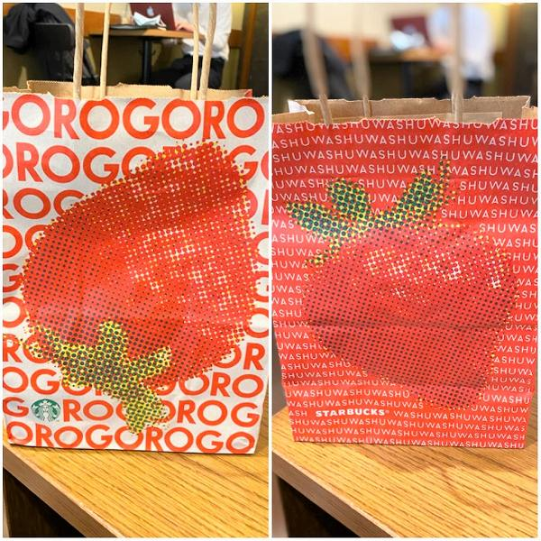TO GOショップバッグもイチゴ♡
