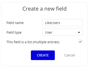 create a new field
