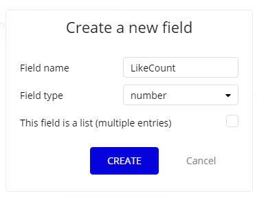 Create LikeCount