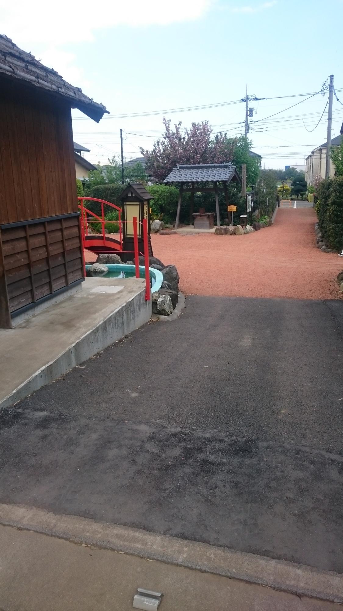 三富今昔村語りべ館 入口通路