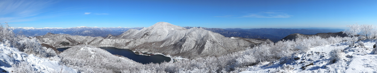 地蔵岳山頂からのパノラマショット