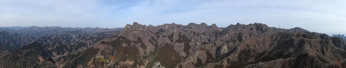 西峰からのパノラマショット