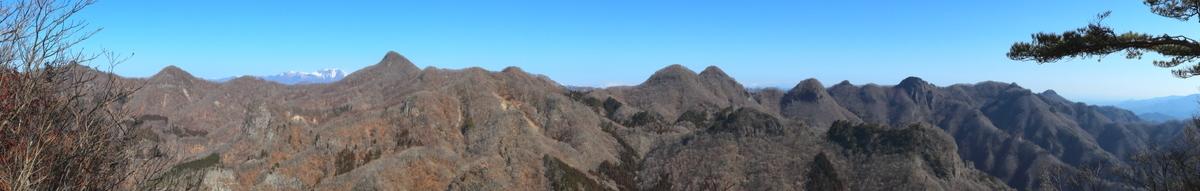 山頂からのパノラマショット