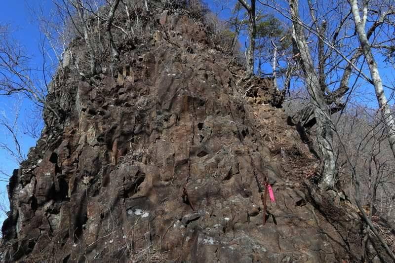 2本クサリによる急傾斜ポイント。(10mほど)