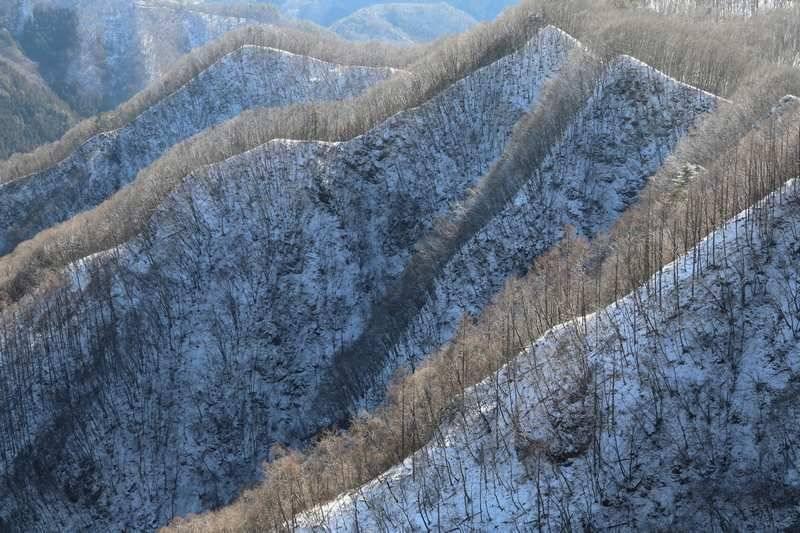 本当は真っ白に染まった山々を見たかったけど、コレもありですね。