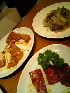 肉とチャプチェ