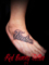 文字 タトゥーデザイン 足の甲 letter tattoo