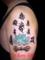 梵字と蓮と三鈷 タトゥーデザイン・画像