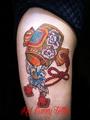 打ち出の小槌 縁起物 刺青 タトゥーデザイン japanese lucky tattoo ネズミ