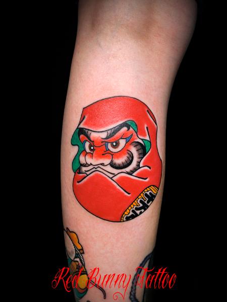 達磨 ダルマの刺青・タトゥーデザイン・画像