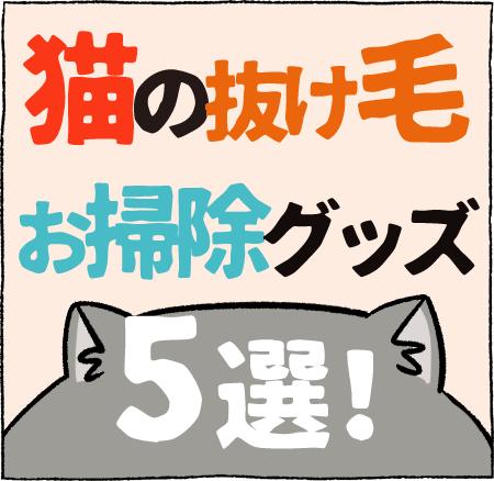 猫の抜け毛お掃除グッズ5選!