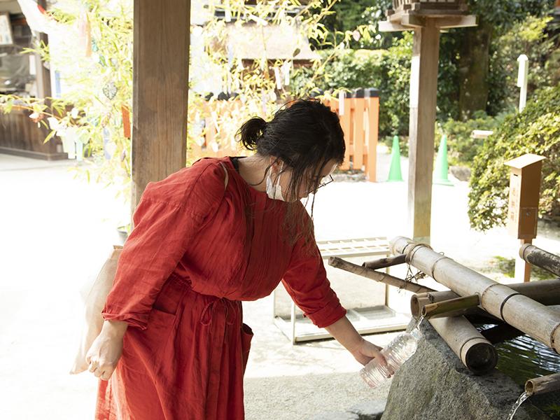 上賀茂神社の手水