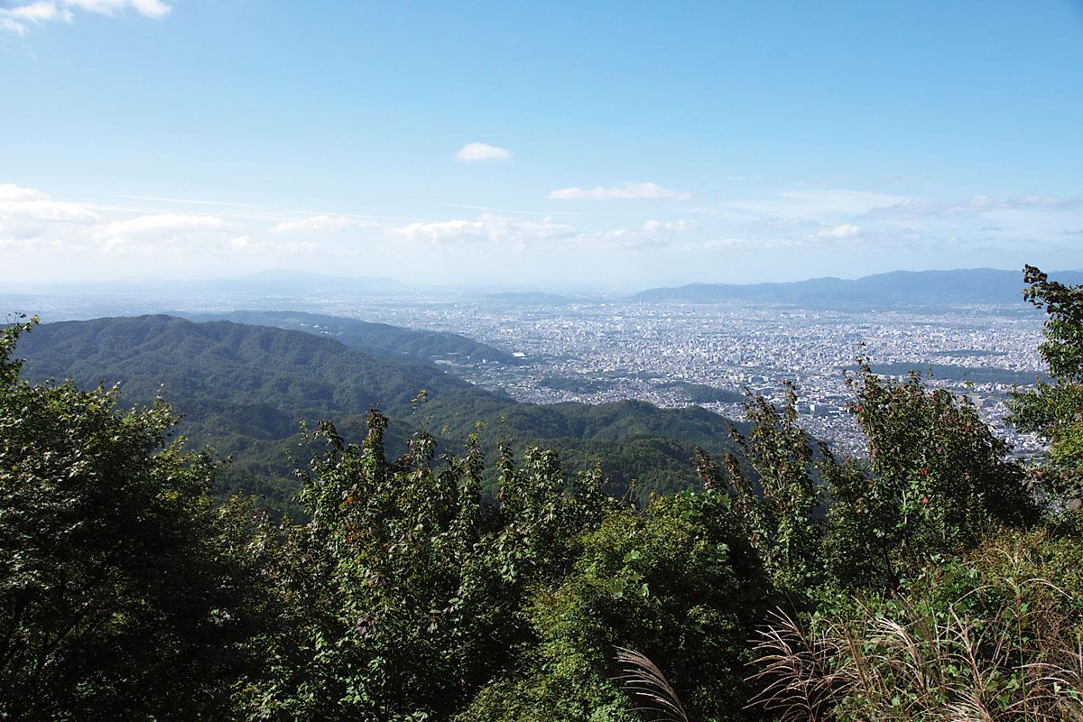 比叡山から東山を望む(東山コース)