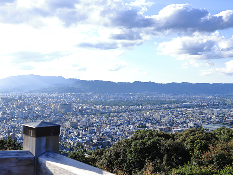 将軍塚青龍殿からの景色