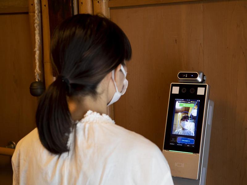 顔認証と体温検知を兼ねた新システム