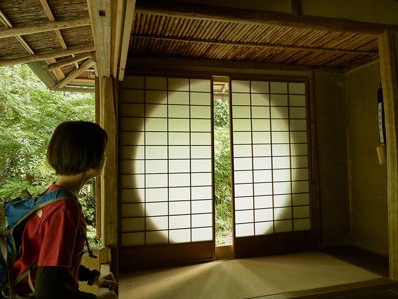 遺芳庵の吉野窓