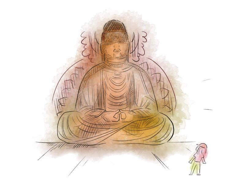轉法輪寺の阿彌陀如來座像